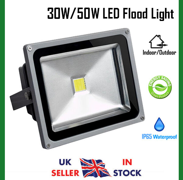 50w Led Security Light: 30W / 50W Cool White LED Security Floodlight Outdoor Flood