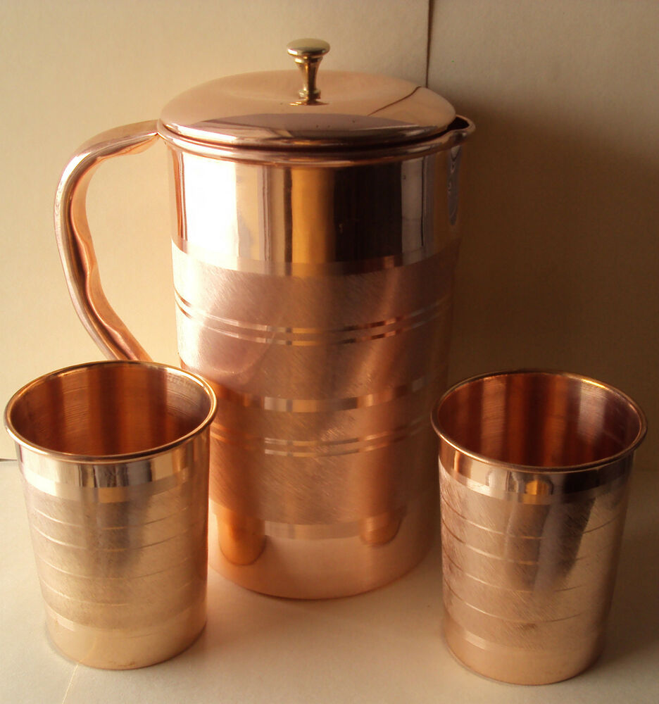 Copper Water Jug And Glasses