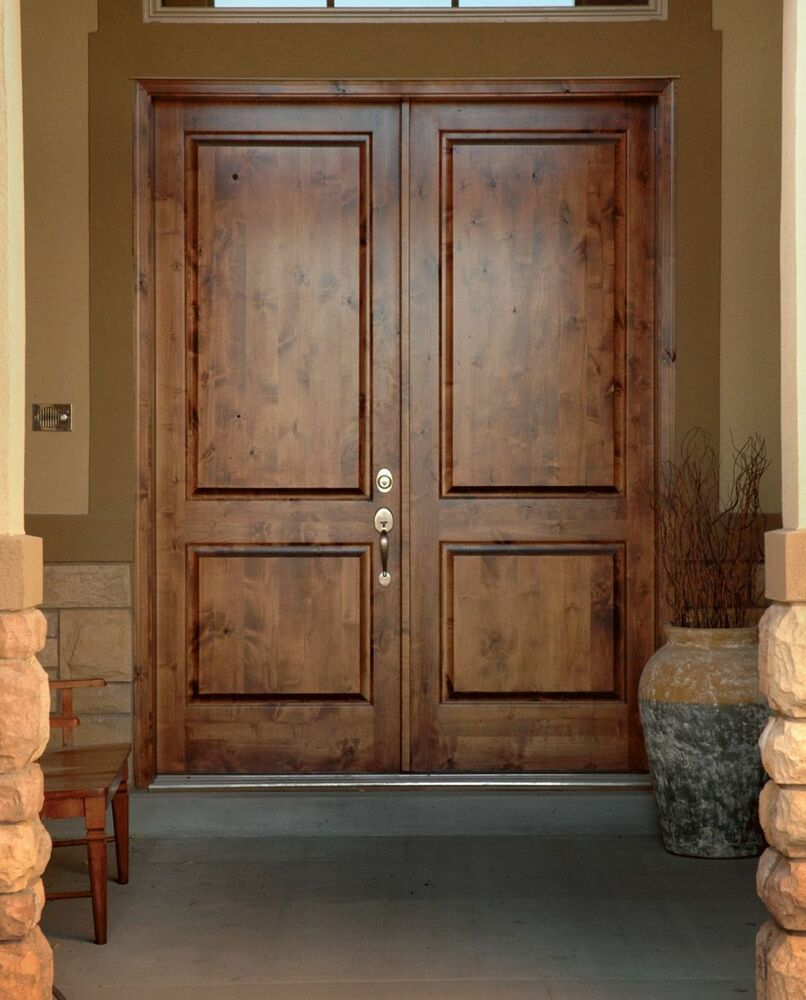 Traditional Entry Doors : Traditional knotty alder double front entry door quot fast