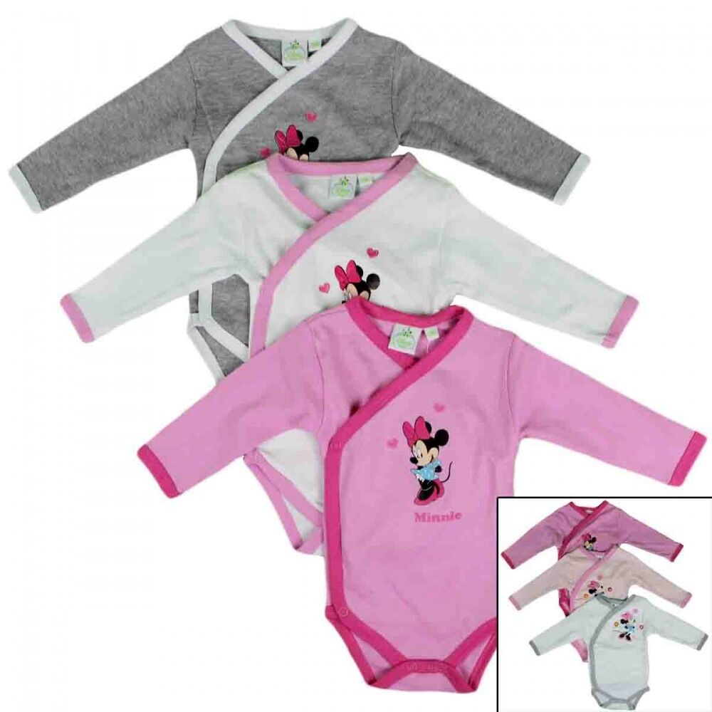 3er set disney minnie mouse baby body strampler ebay. Black Bedroom Furniture Sets. Home Design Ideas