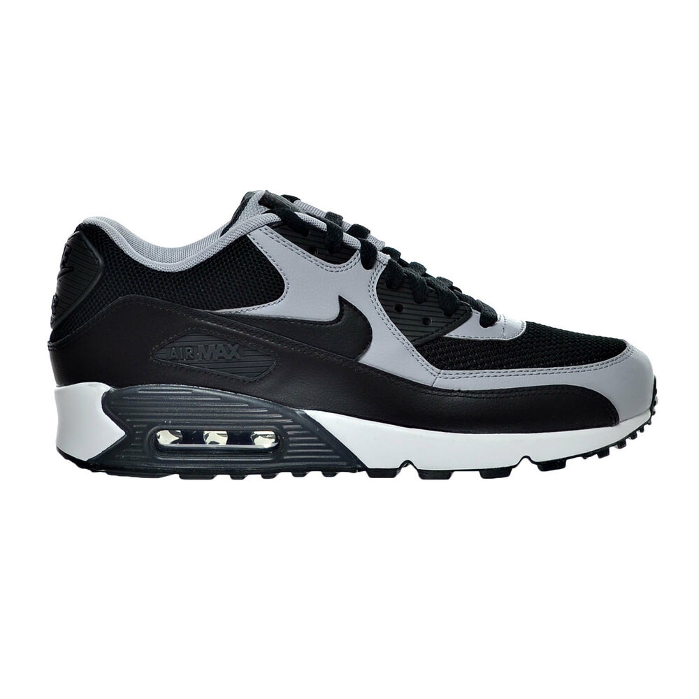 Nike Men's AIR MAX 90 ESSENTIAL Running Shoes Black/Wolf