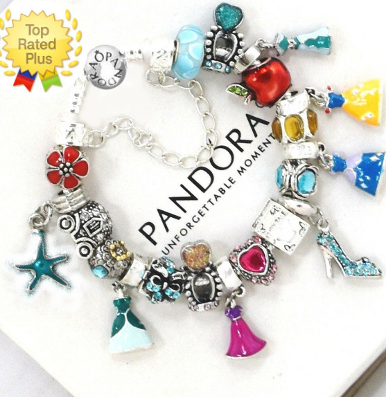 New Charm Bracelets: Pandora Bracelet Disney 925 Silver Princess Dress Crown