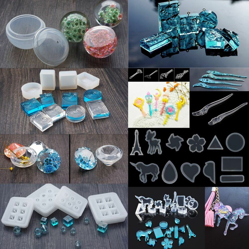 Diy pendant transparent silicone mold mould resin gem for Crafts that sell on ebay