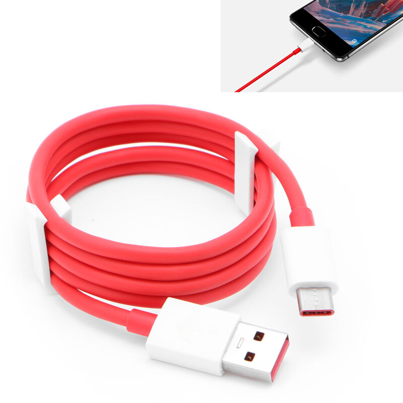for oneplus 3 type c original red dash fast charge charger data usb cable ebay. Black Bedroom Furniture Sets. Home Design Ideas