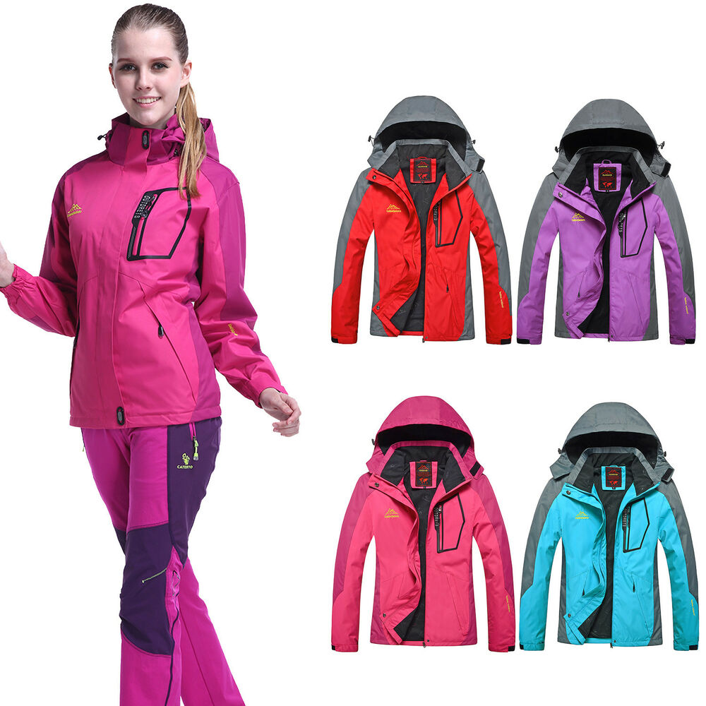 Women Ladies Waterproof Windproof Hiking Ski Snow Warm ...