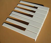 Piano Key Tops with Fronts -White -One Octave-F&N - for Upright Pianos
