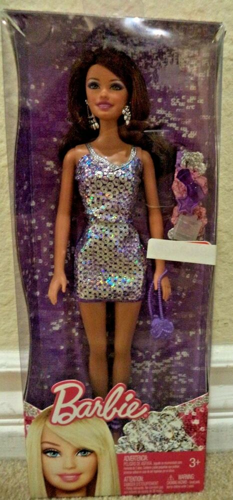 Barbie Fashionistas Teresa Purple Sparkle Dress Target