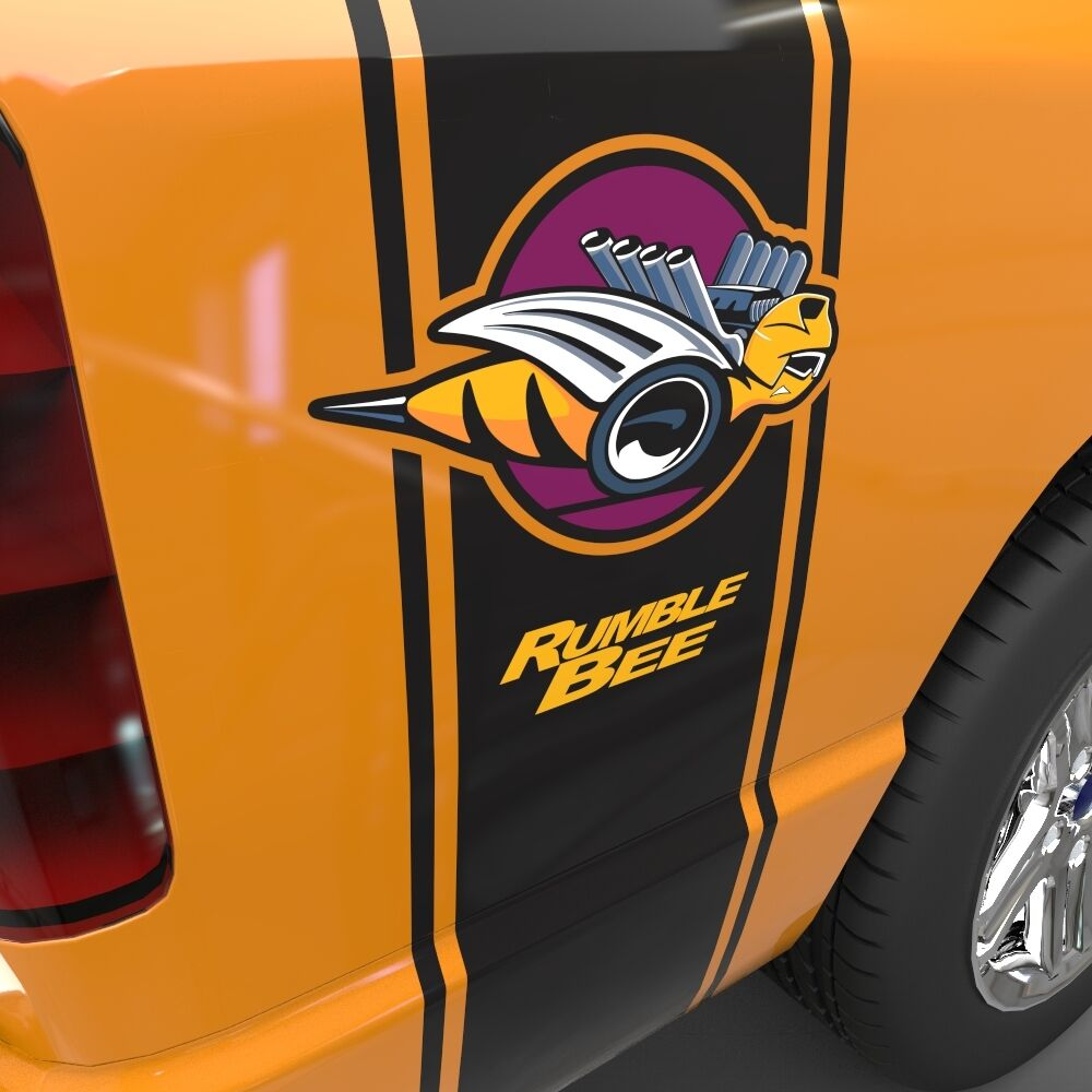 Dodge Ram Rumble Bee >> 1500 2500 3500 Dodge Ram Side Stripes Rumble Bee Super Decal Set Graphic Sport | eBay