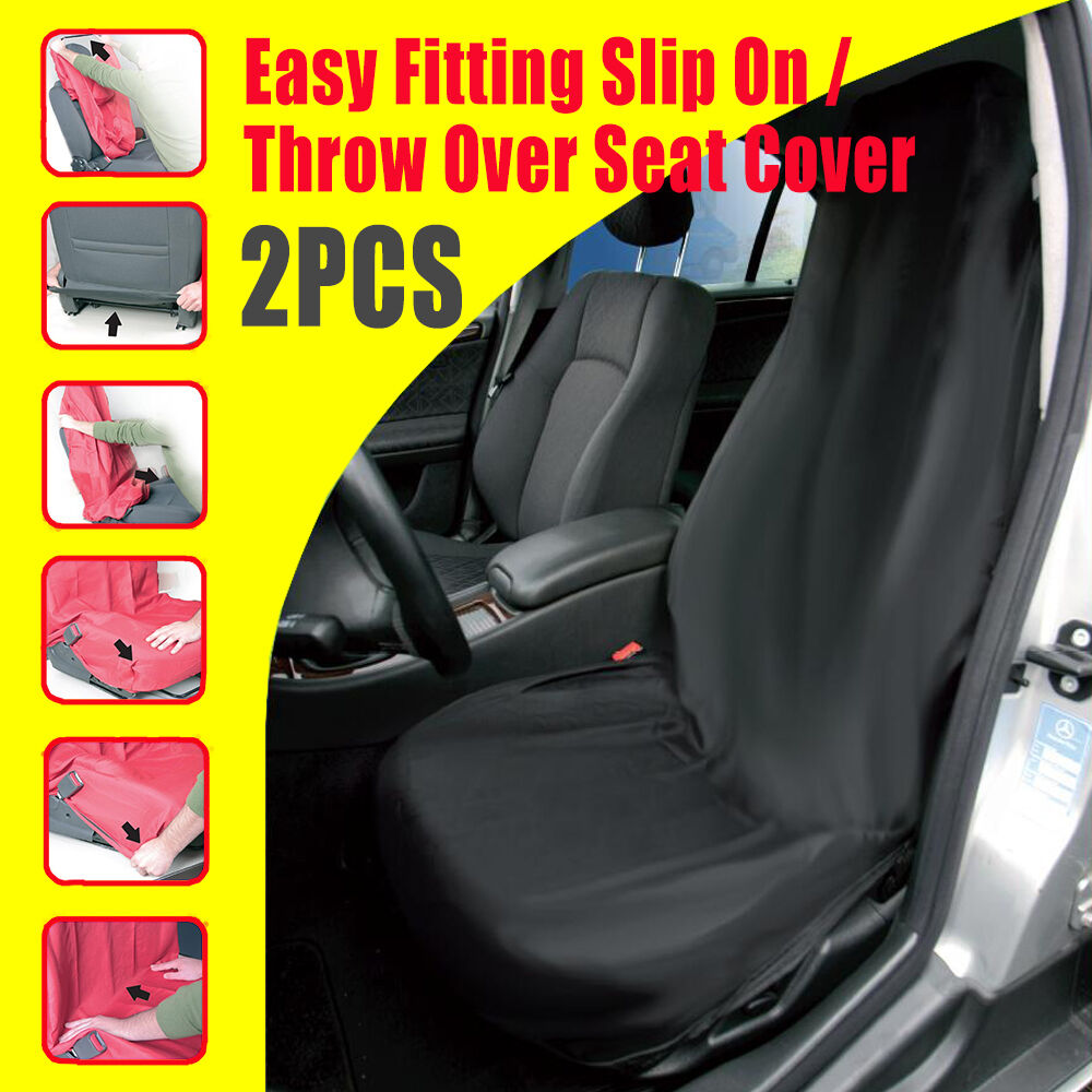 Pair Slip On Throw Over Car Seat Covers For All Bucket