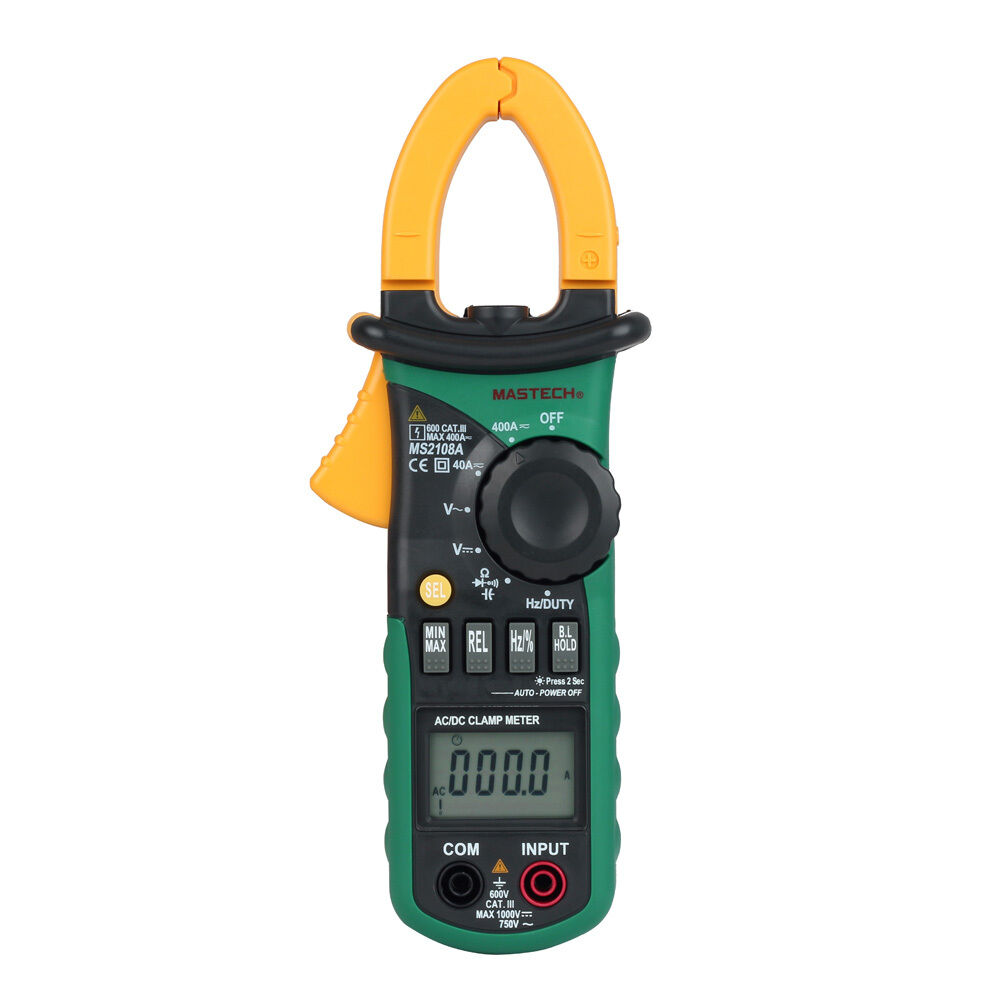 Clamp On Multimeters Current Probes : Mastech ms a ac dc current clamp meter digital