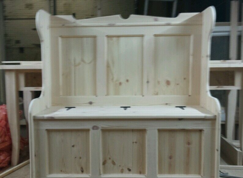 3 Panel Church Pew Monks Bench 4ft Any Size Made Ebay