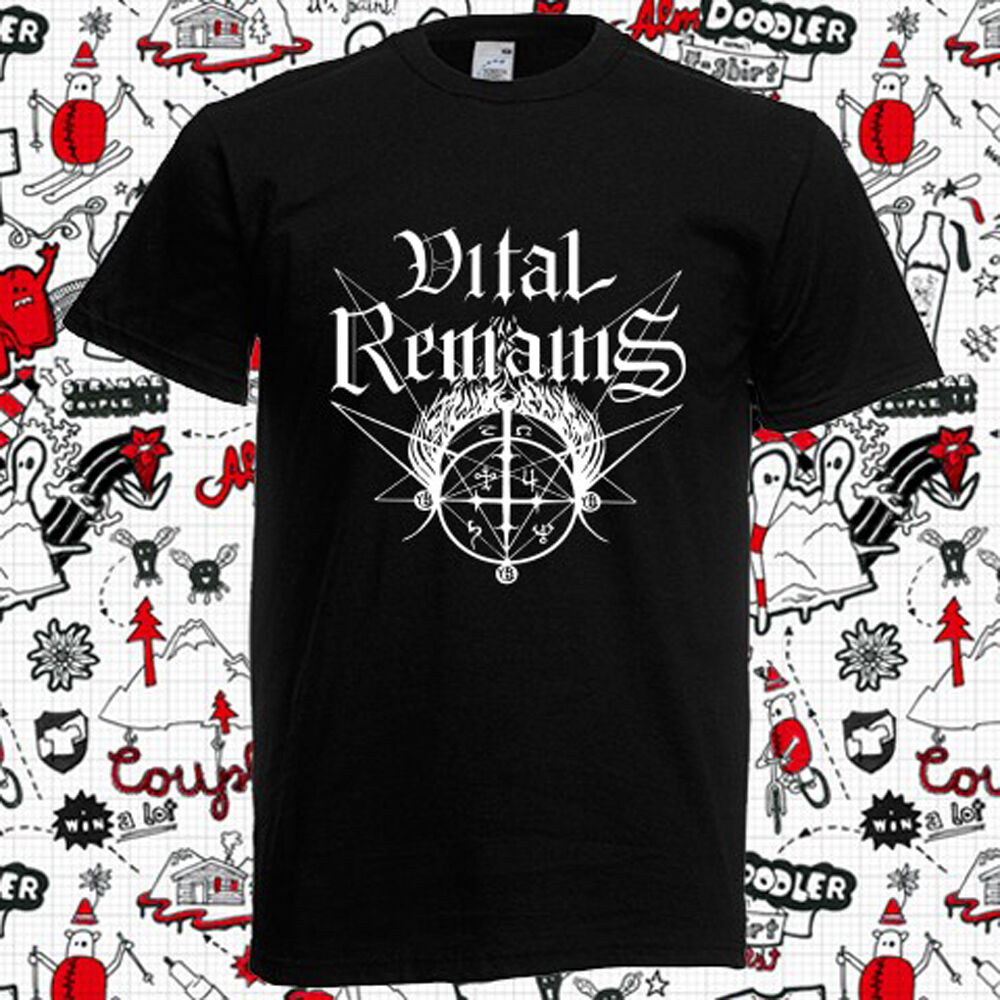 Details about New Vital Remains Death Metal Rock Band Logo Men s Black T-Shirt  Size S-3XL 9808c2a037a9f