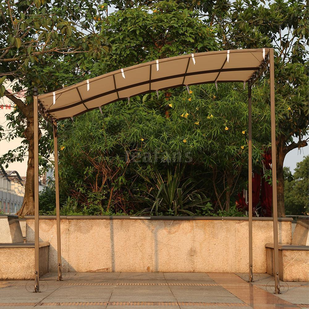 3*2.5*2.5M Metal Patio Garden Wall Gazebo Canopy Awning ...