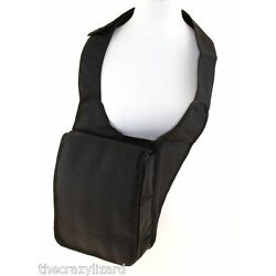 Eleganter Bodybag Crossbag Rucksack Tasche Dreiecksrucksack Schwarz Stoff