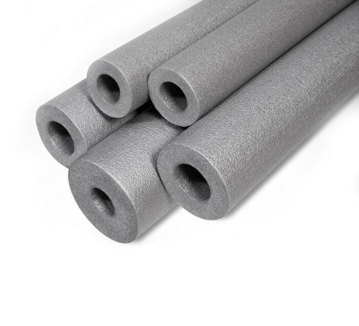 10 X 1m Strong Grey Pipe Insulation Foam Pipe Lagging