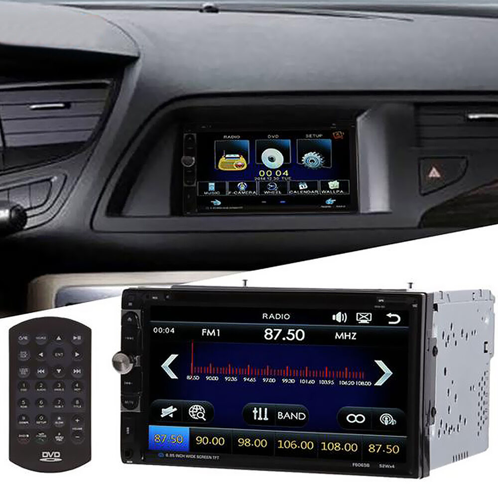 2 din in dash bluetooth touch screen hd car stereo. Black Bedroom Furniture Sets. Home Design Ideas