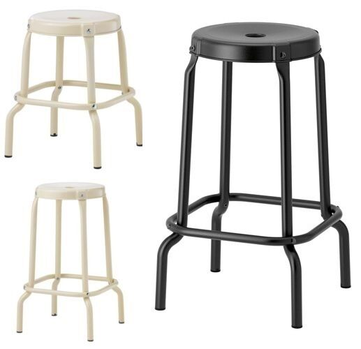 Black Kitchen Bar Stools Uk: Ikea RÅSKOG Bar Kitchen General Use Stool,Black,Beige,45