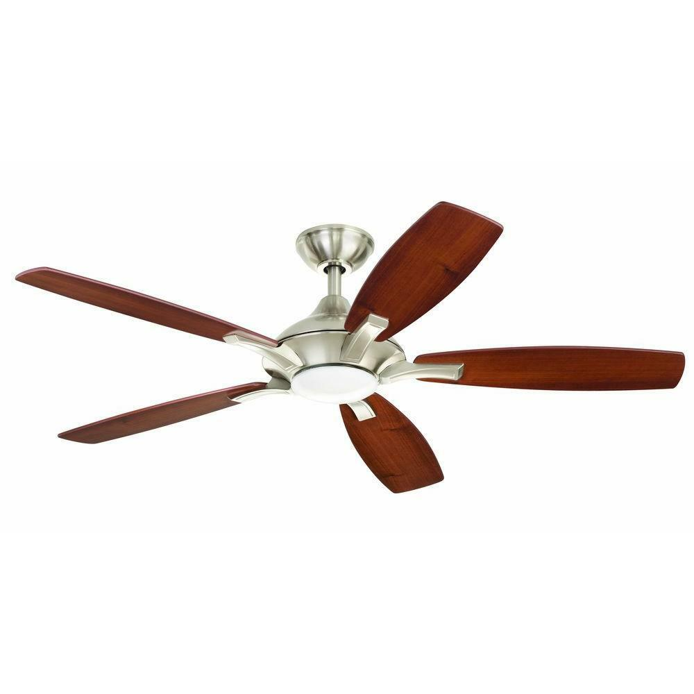 Lighting Fans: Petersford 52 In. LED Brushed Nickel Ceiling Fan