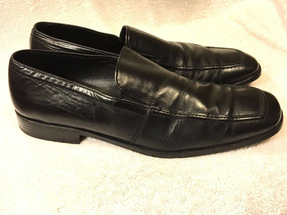 To Boot New York Adam Derrick Mens Black Leather Slip On