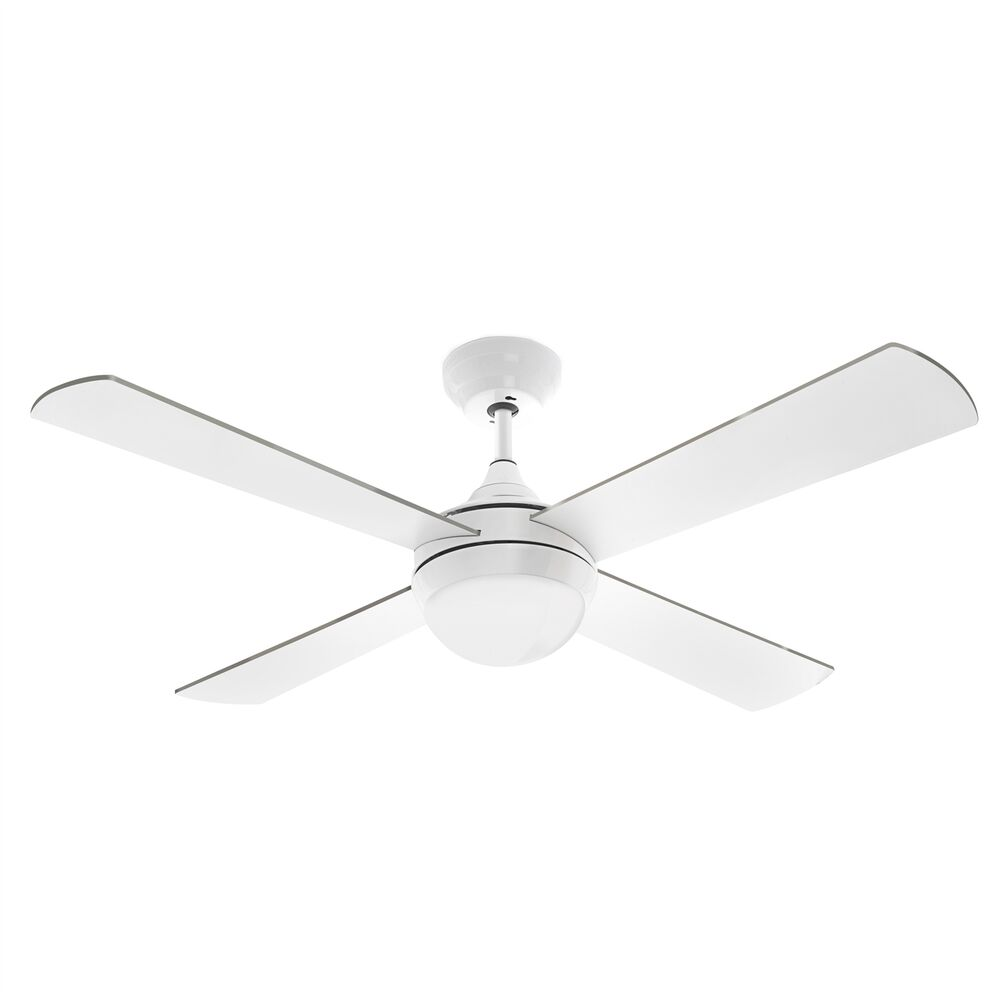 Arlec Columbus Ceiling Fan Led Light 120cm White Remote Control Aust Brand