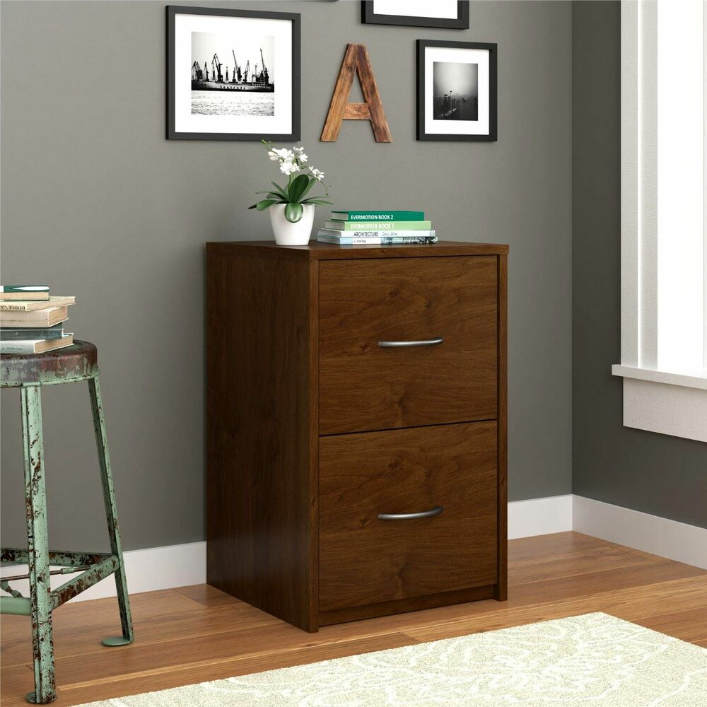 Alder Wood 2 Drawer File Cabinet Filing Home Office