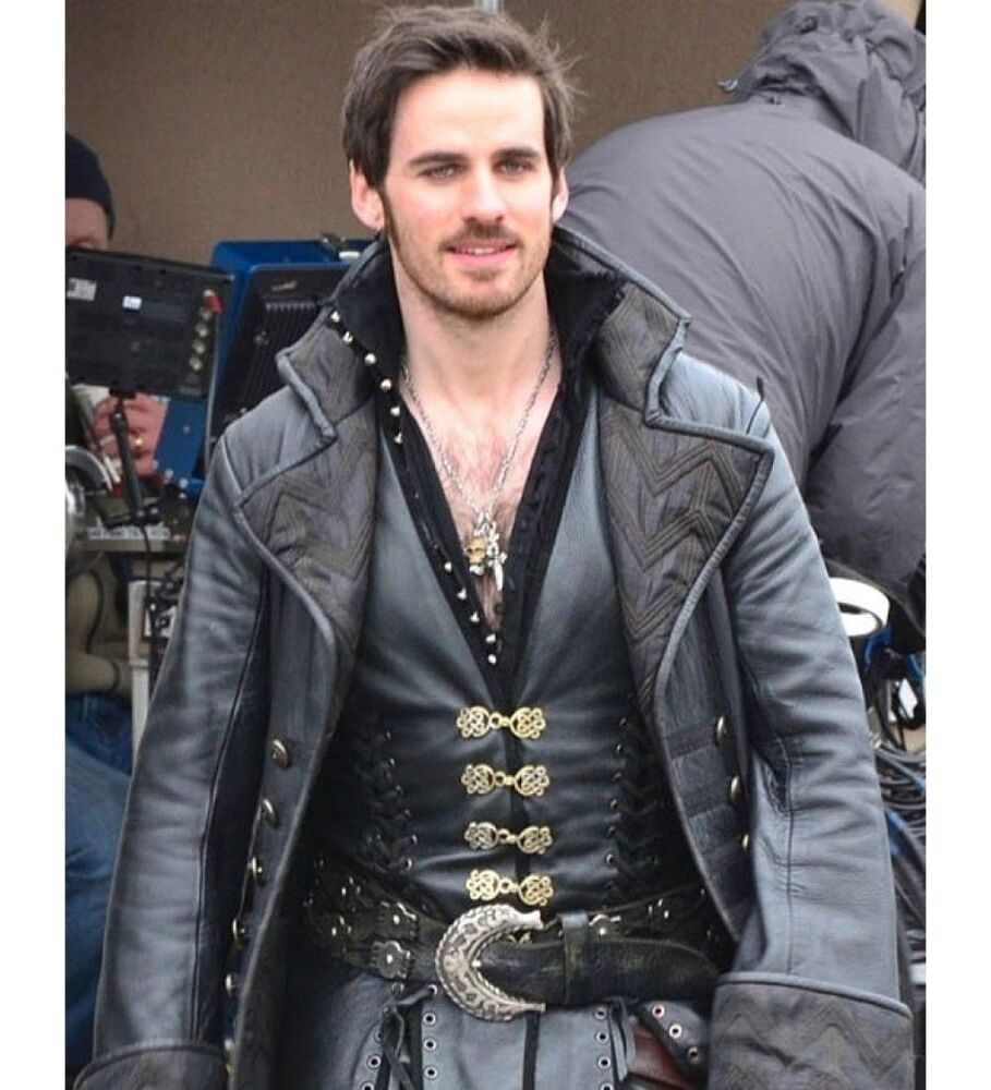 Captain Hook Once Upon A Time: Captain Hook Once Upon A Time Black Leather Coat New
