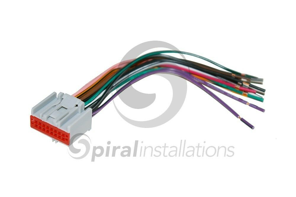 car stereo radio wiring harness oem factory stereo installation 16 pin ebay