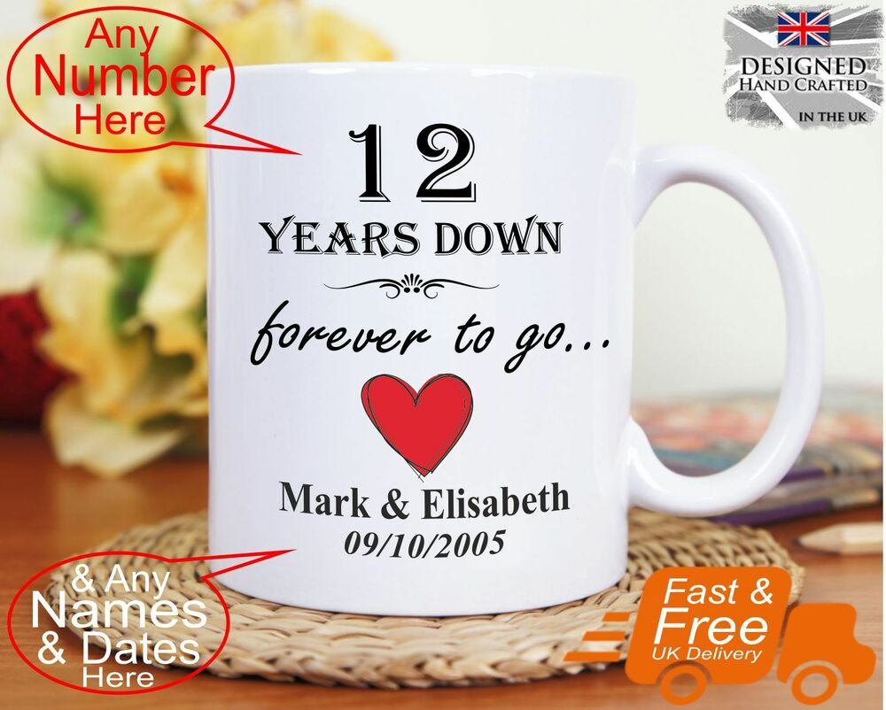 12th Year Wedding Anniversary Gifts: 12th Wedding Anniversary Gift 12 Years Marriage, Any Dates