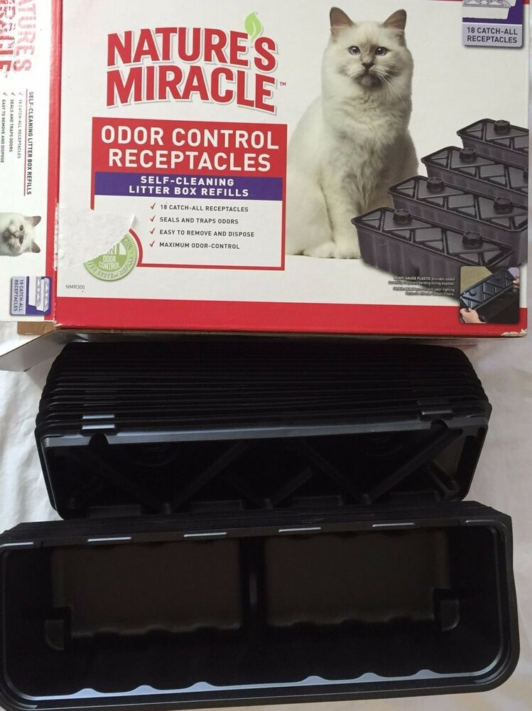 Natures Miracle Odor Control Receptacles Self Cleaning
