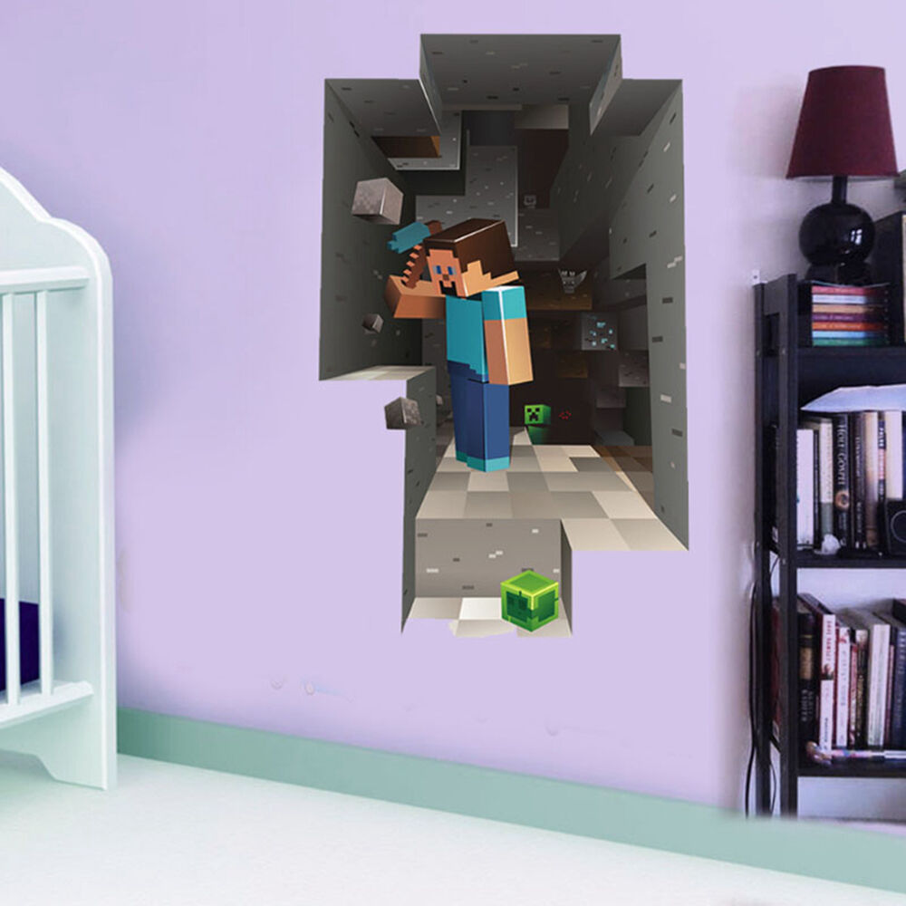 Minecraft Bedroom Wallpaper Ebay