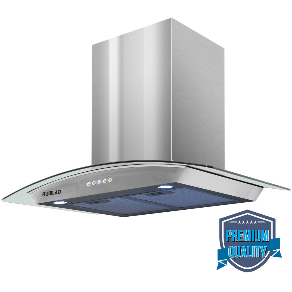 Stove Exhaust Fans : Quot led stainless steel wall mount range hood stove vent