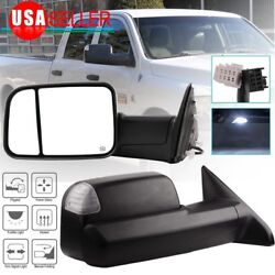 Kyпить Pair for 2009-2015 Dodge Ram Truck Power Heated LED Puddle Signals Tow Mirrors на еВаy.соm