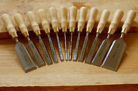 NAREX 8116 Cabinetmakers Chisels (Natural) - Set of 12