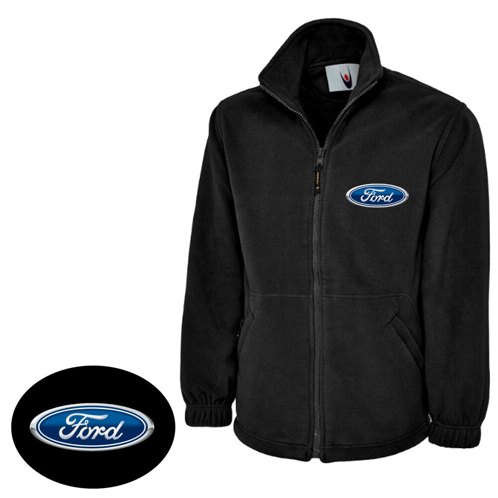 Classic ford full zip mirco fleece jacket with embroidered