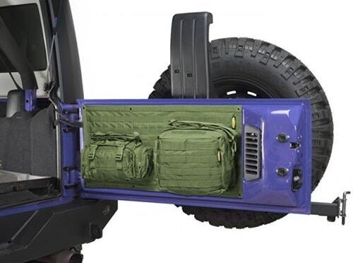 Smittybilt G.E.A.R. MOLLE Tailgate Cover With 2 Pouches 07-16 Jeep Wrangler JK