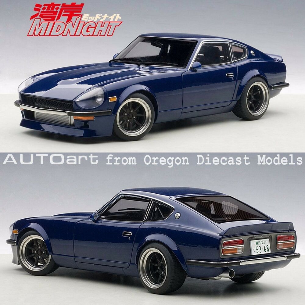 autoart 77451 1 18 nissan wangan midnight devil z blue. Black Bedroom Furniture Sets. Home Design Ideas
