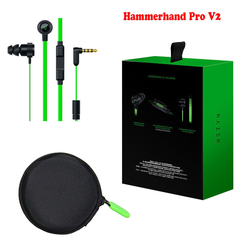 razer hammerhead pro v2 inear pc music gaming headset earpiece heaphone with mic ebay. Black Bedroom Furniture Sets. Home Design Ideas