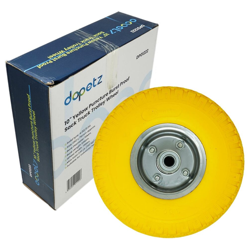 10 Quot Yellow Puncture Burst Proof Sack Truck Trolley Wheel