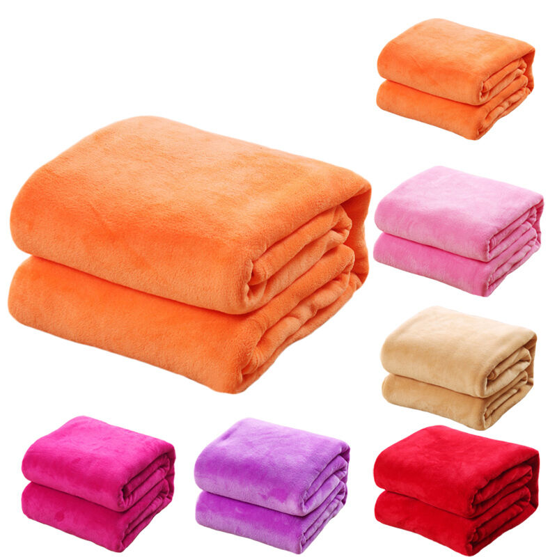 Super soft plush mink fleece queen king bed sofa throw for Soft blankets and throws