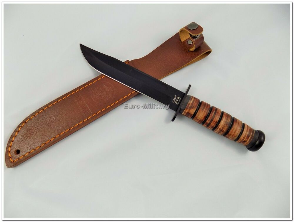 High Quality Usmc Ww2 Us Army Attack Knife With Leather