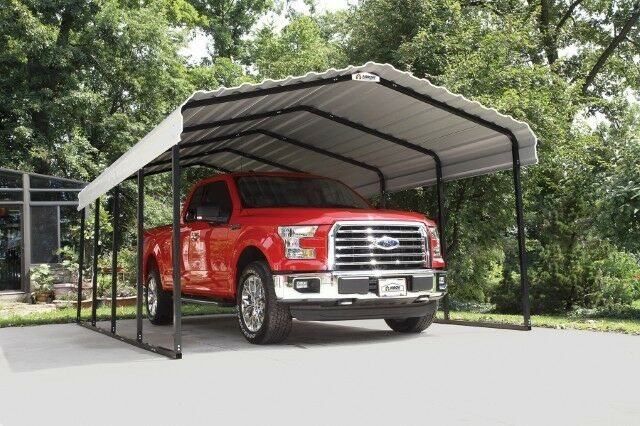 12x20x7 Arrow Shed Shelterlogic Metal Carport Canopy