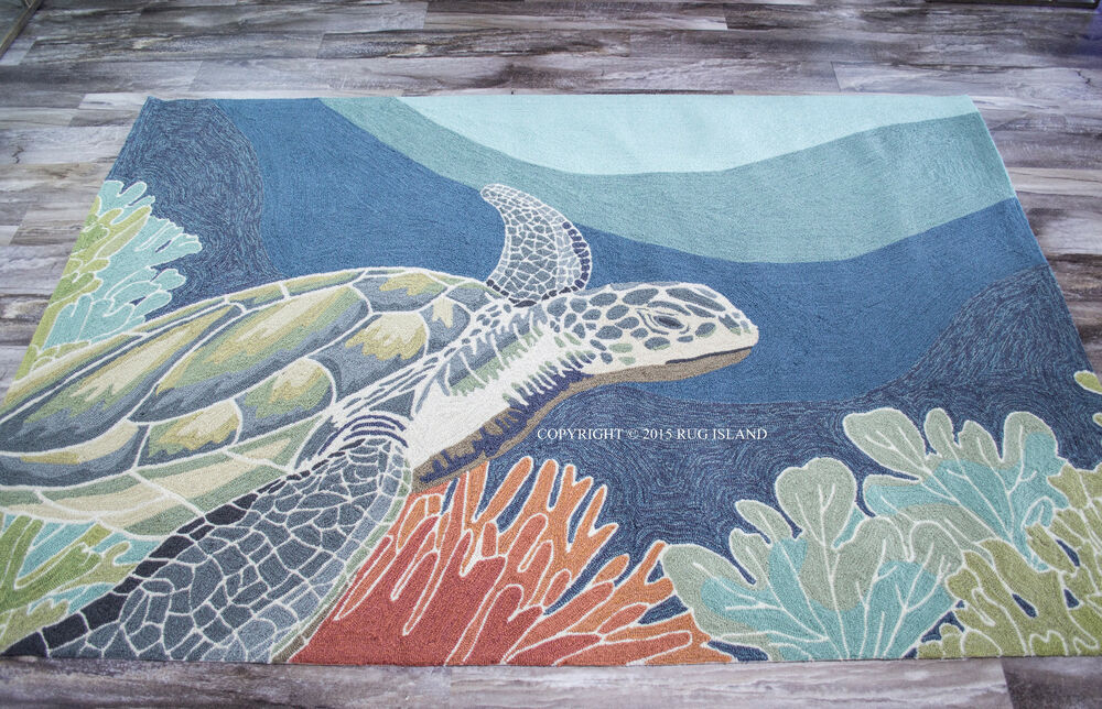 "4x6 3 6"" x 5 6"" Tropical Coastal Ocean Turtle Indoor"