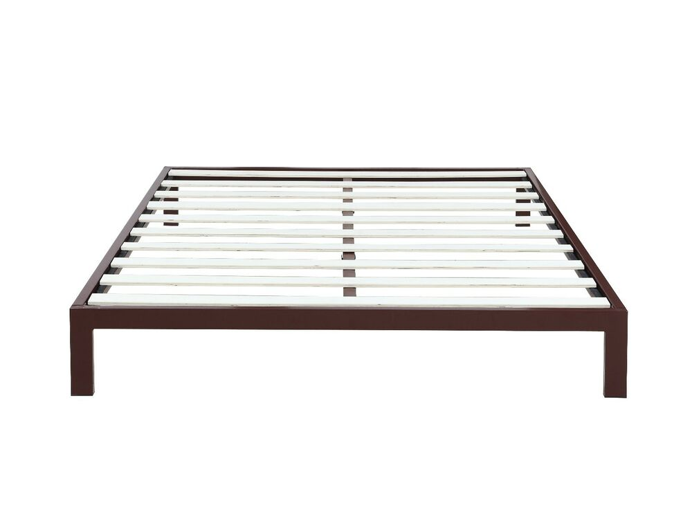 Modern 8 Low Brown Metal Platform Bed Frame Mattress