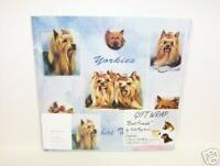 Yorkshire  Dog Gift Wrap Paper-2 Sheets & 2 Gift Card