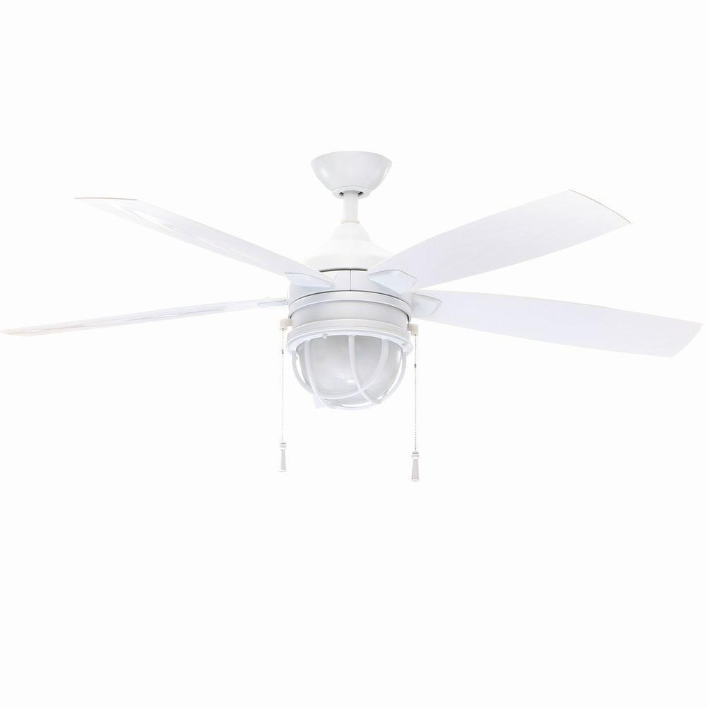 Seaport 52 In Indoor Outdoor White Ceiling Fan