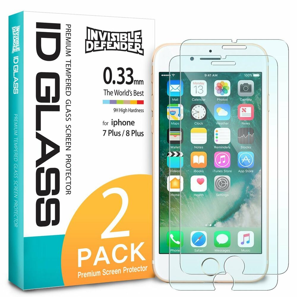 For Iphone 8 Plus 7 Ringke Tempered Glass Clear Screen Rearth Slim Gloss Black Protector 2pcs 8809550347236 Ebay