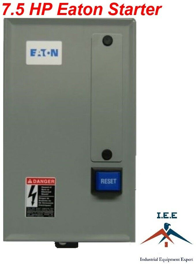 Eaton 7 5 hp single 1 phase 230v magnetic starter for 1 phase motor starter