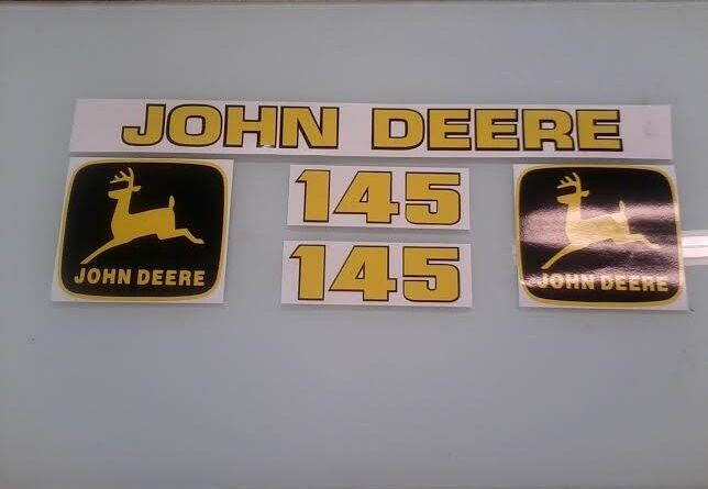 John Deere 145 Loader Decals Ebay