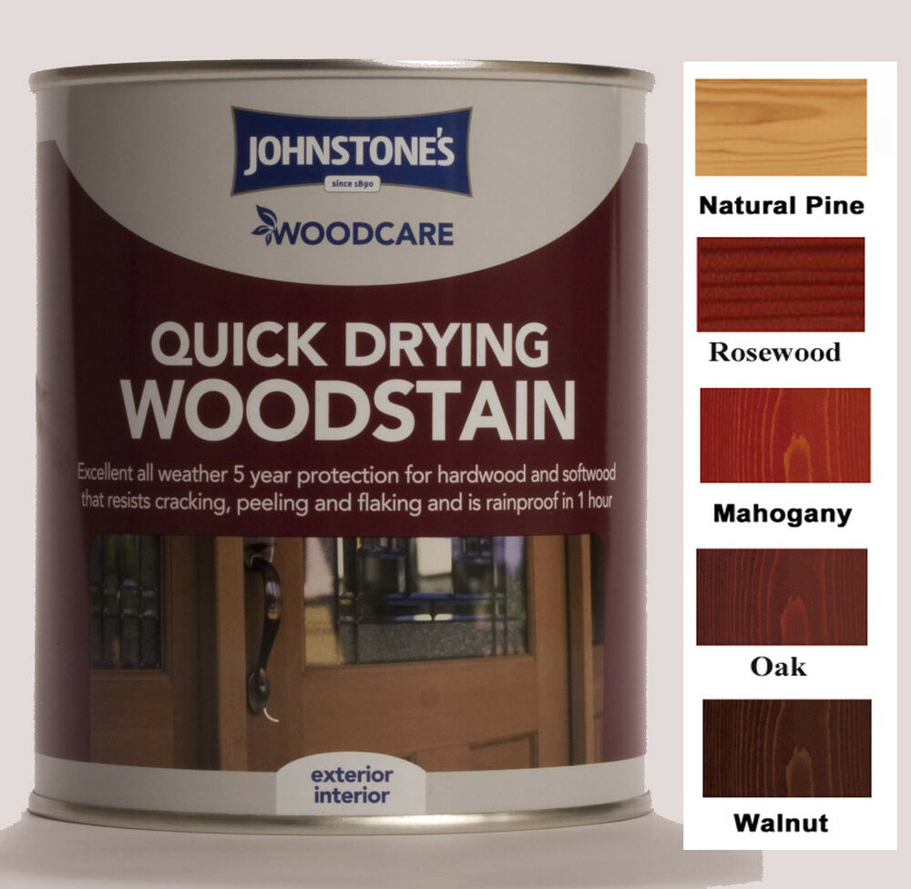 Exterior White Stain For Wood: Johnstones Woodcare Quick Drying Woodstain 750ml Exterior