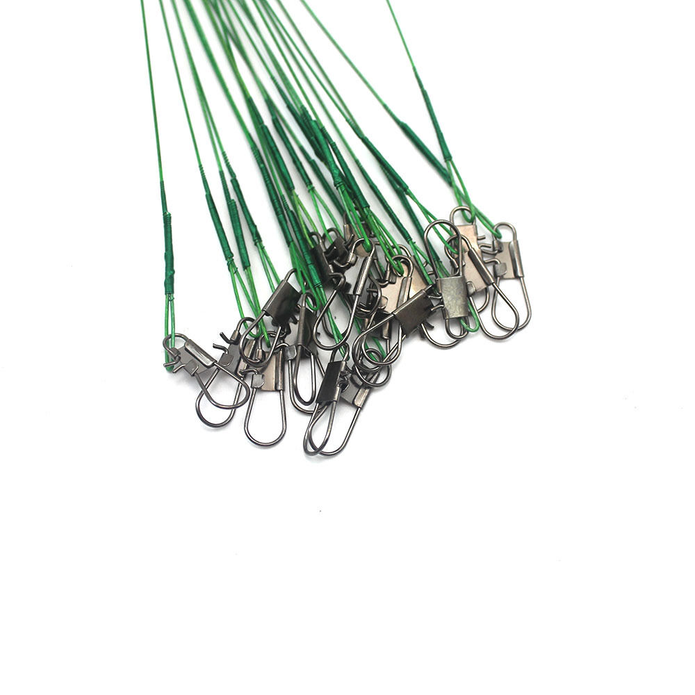 60pcs fishing trace lures leader stainless steel wire for Steel fishing leader
